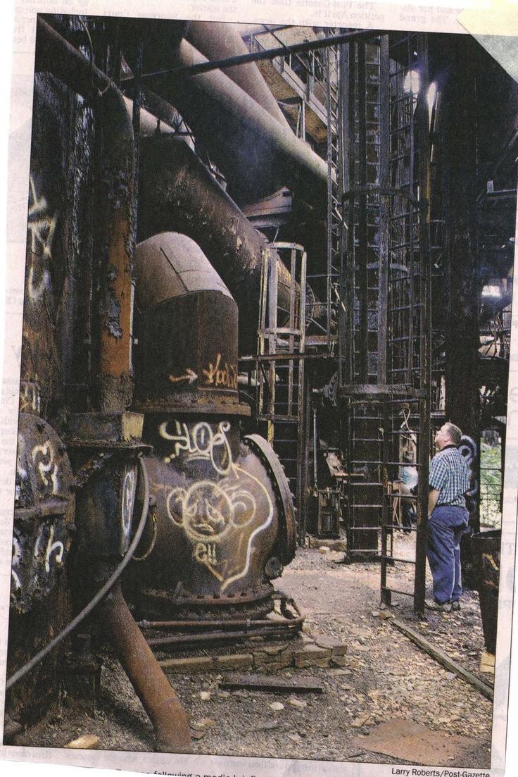 Steel mill graffiti