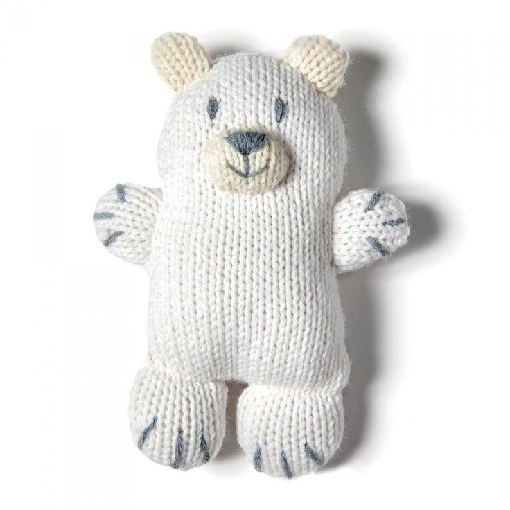 Tricot : un doudou ours polaire