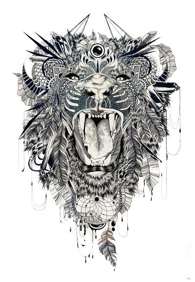 Zentangle! Lion | Dreamcatcher | Feathers.  This is too cool!@michdecastro