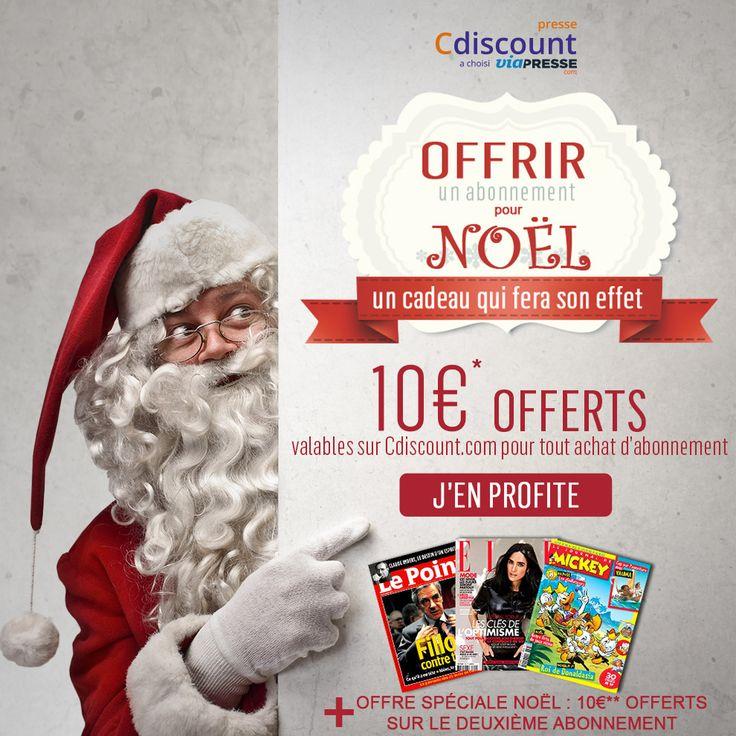 Le #Noel de @Cdiscount ➠ Offrez un abonnement #magazine pour Noël ! Une idée #cadeau 100% garantie ! ➠ https://ad.zanox.com/ppc/?28290640C84663587&ulp=[[http://www.cdiscount.com/ct-viapresse.html?refer=zanoxpb&cid=affil&cm_mmc=zanoxpb-_-userid]]