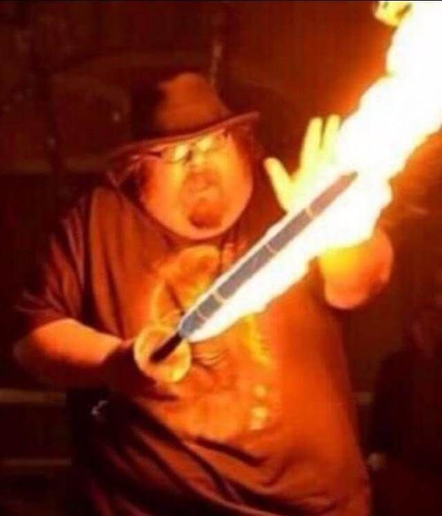 Neckbeard The Wise Fire Mage With Images Neck Beard Bad