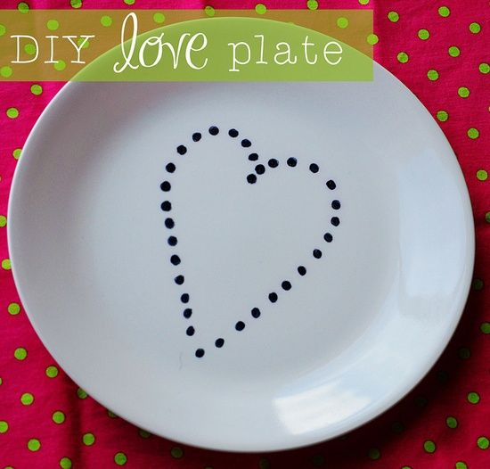 DIY Plate with Sharpies. Design, Draw, Bake at 350 (hand wash only)- Making one with my little sister today!