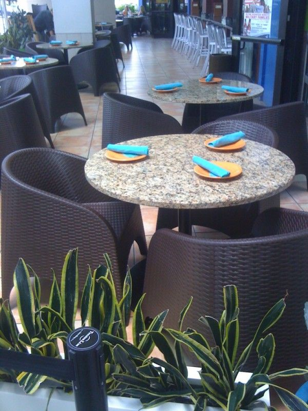 Image Of Gorgeous Patio Furniture For Restaurant Of Tall Round Dining Table With Custom Made Countertops F Outdoor Furniture Sets Patio Furniture Outdoor Decor