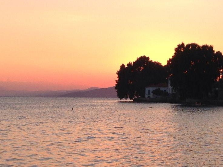 Sunset over Kala Nera Pelion Greece