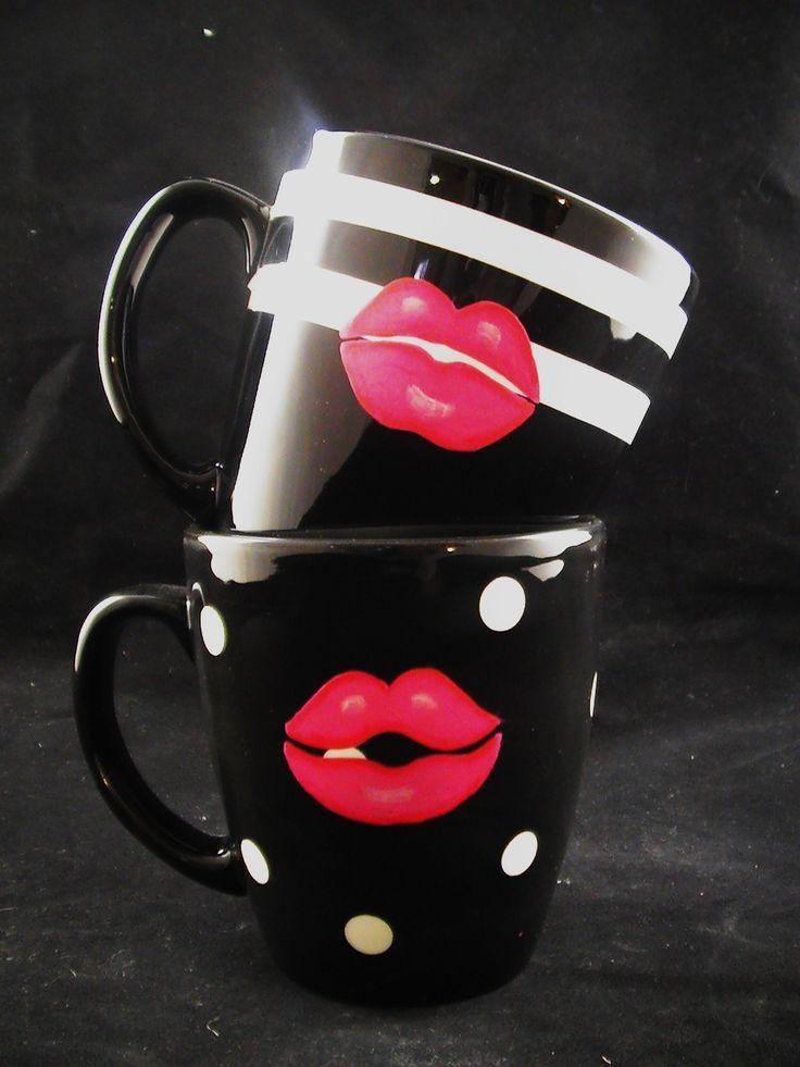 Give Me A Kiss Lip Mug Set