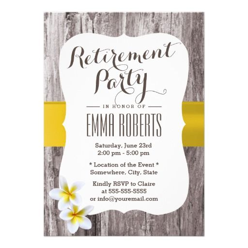 retirement party invite