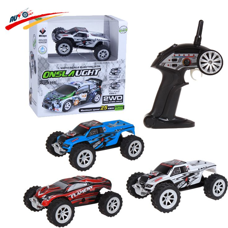 RC Car Wltoys A999 Double-sided driving 1:24 5ch 25km/h Monster Onslaught Monster Truck High Speed Radio Control Vehicle Toy Description: ...