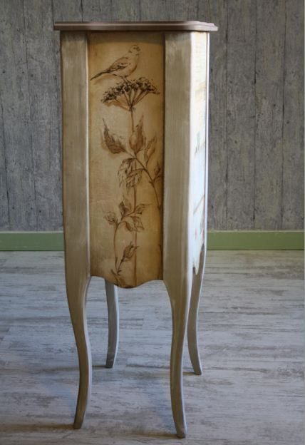 Decoupage furniture (back side)
