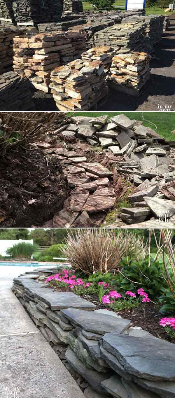 Flagstone is a little bit more expensive than other materials but it can provide a modern feel for your home's outdoor