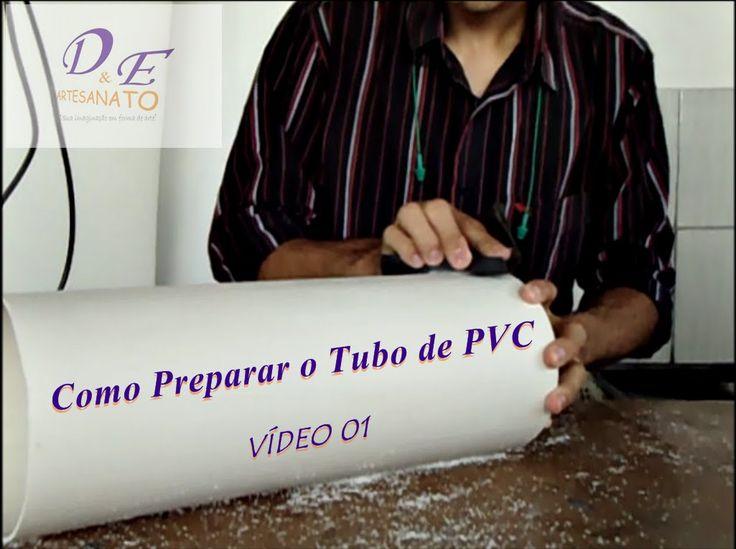 Luminária de PVC passo a passo Preparando o tubo.