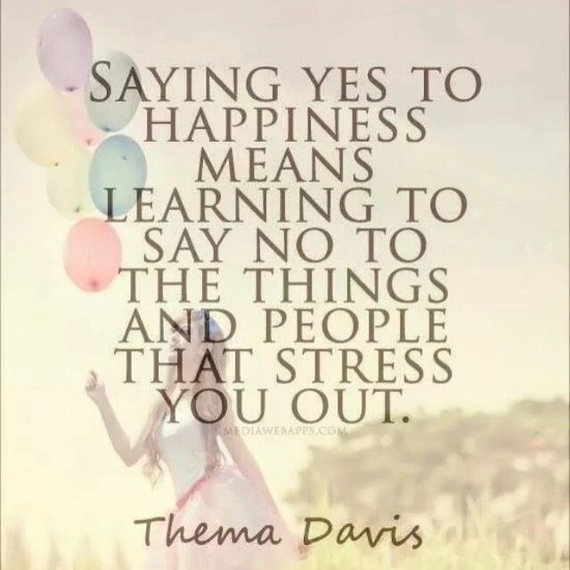 Say No To Stress.