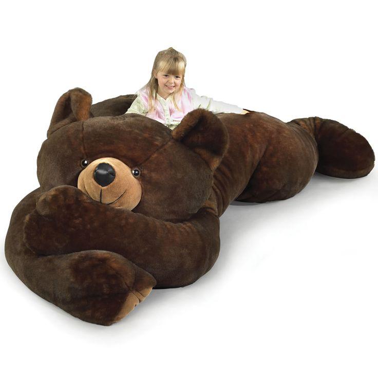 WANT SO BAD. The 7 1/2 Foot Slumber Bear - Hammacher Schlemmer