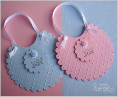 Bib baby card. These would be cute gift tags too.