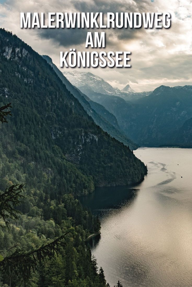 Am Königssee führt der schöne Wanderweg Malerwinklrundweg entlang mit grandiosen Ausblicken auf den Nationalpark Berchtesgaden und den Königssee