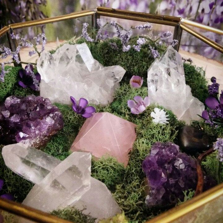 pagan paganism witch witchcraft goddess crystals altar herbs candles tarot spiritual mystic spell magic magick plants