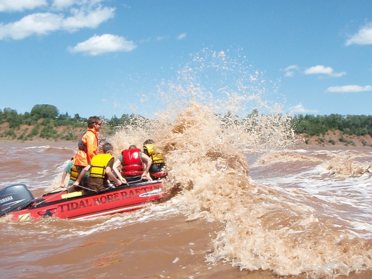 tidal bore rafting on the Shubie River. On my bucket list and finally did it three years ago.