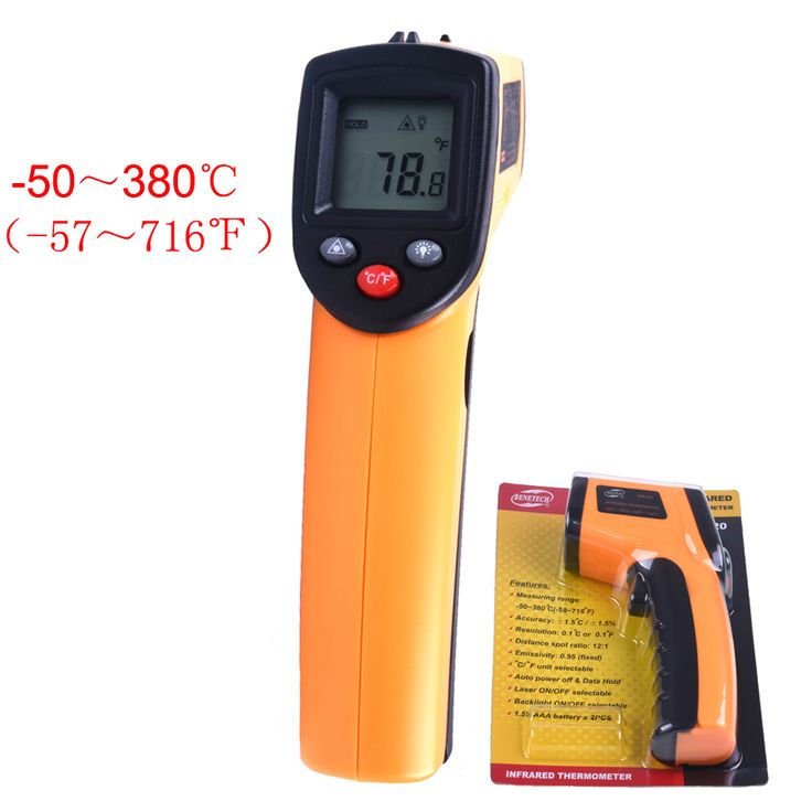 GM320 Digital Pantalla LCD Sin Contacto del Laser IR Termómetro Infrarrojo-50 a 380 C de Coches Diagnóstico y Mantenimiento automático de la Temperatura