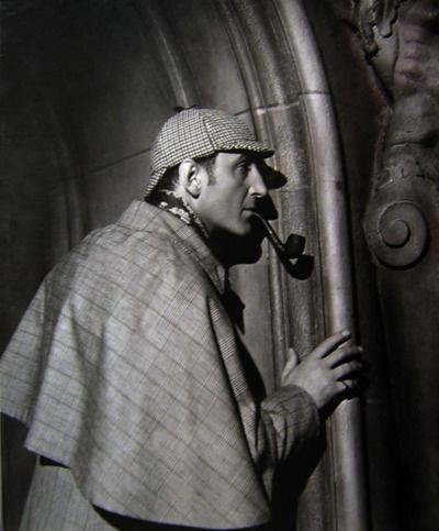 Basil Rathbone as Sherlock Holmes  Classic hat!