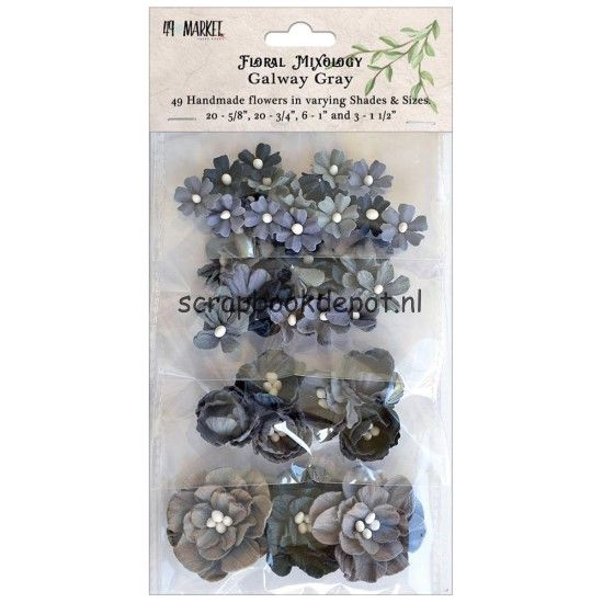 49 and Market Floral Mixology Paper Flowers - Galway Gray