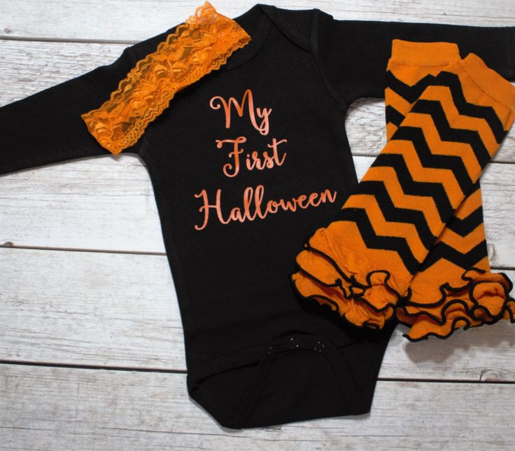 Babys first Halloween- Infant Girl Halloween- Funny Infant Halloween-  Baby Halloween Costume- Minimalist Halloween- Halloween Outfit by DaliceDesigns on Etsy