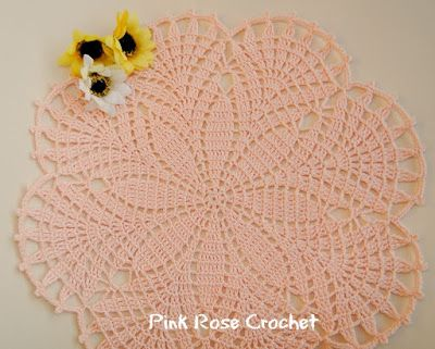 Pink Rose Crochet: Centrinho Flor Bouquet