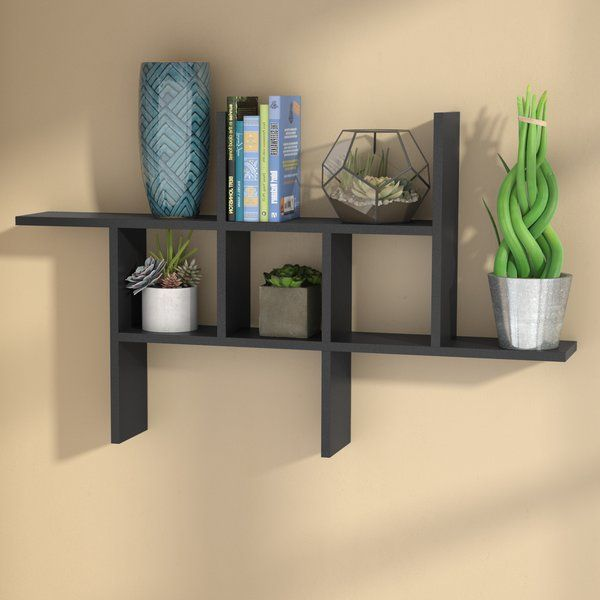 Short On Square Footage Bring Both Storage And Staging Space To Your Ensemble With This Essential Wall Shelf Measuring 4 Wall Shelves Shelves Display Shelves