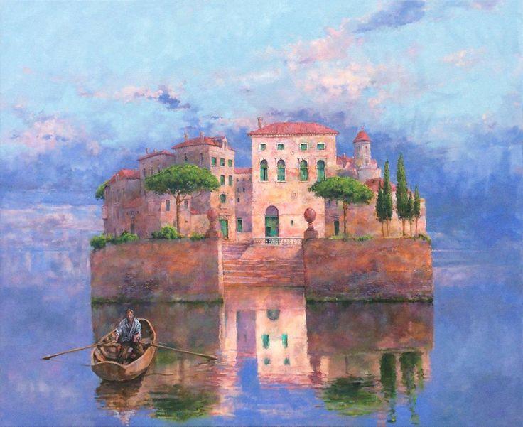 De Thuiskomst, schilderij van Peter Boekholt, olieverf op linnen, 80 x 100 cm, Galerie Honingen