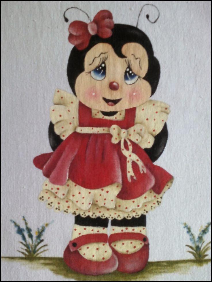 pinturas em tecidos joaninhas - Pesquisa Google