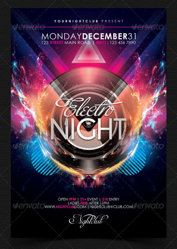 59 best Club Flyers images on Pinterest Club flyers - club flyer background