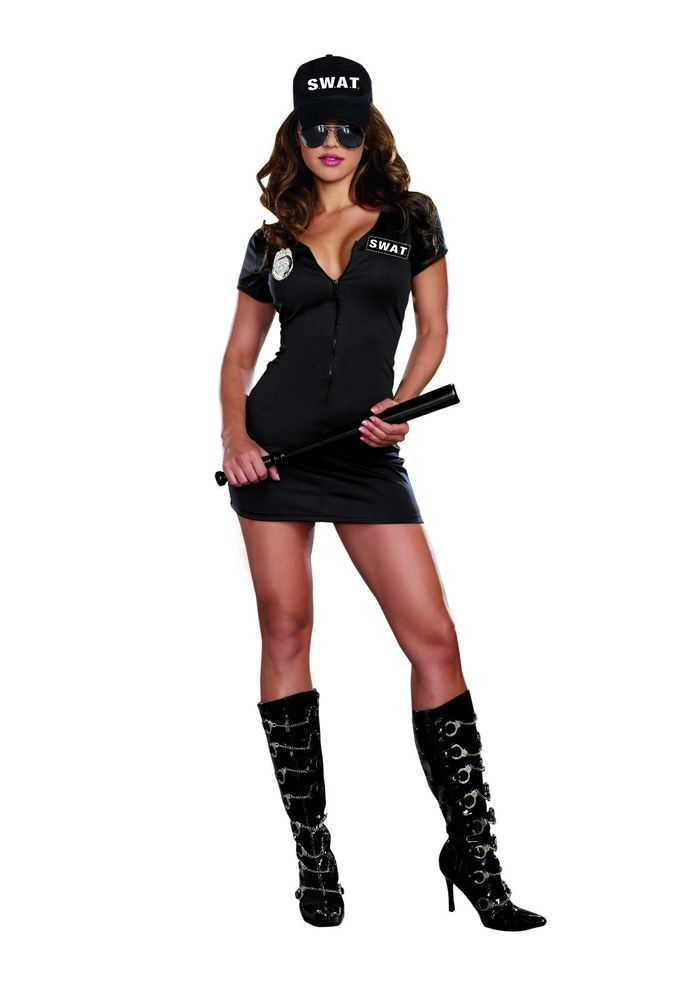 Sexy Women's Police Cop SWAT  Halloween Costume Party Dance Cosplay #Dreamgirl #CompleteOutfit #Halloween