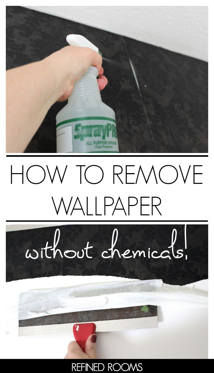 How To Remove Vinyl Wallpaper The Easy Way Orc Week 2 Removable Wallpaper Cleaning Painted Walls House Cleaning Tips