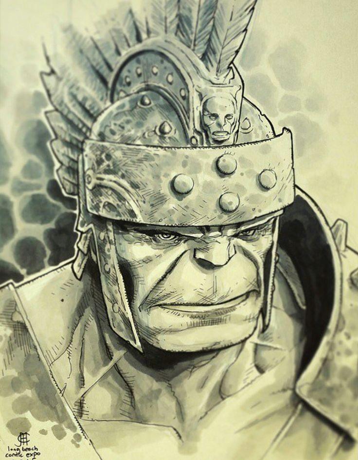 Gladiator Hulk by Jim Cheung *