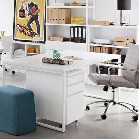 Chair option : Astor Office Chair in Arena Cement, $349 from Freedom
