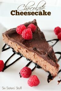 Six Sisters Chocolate Cheesecake Recipe. This is so easy to make and you won't be able to stop after just one slice!
