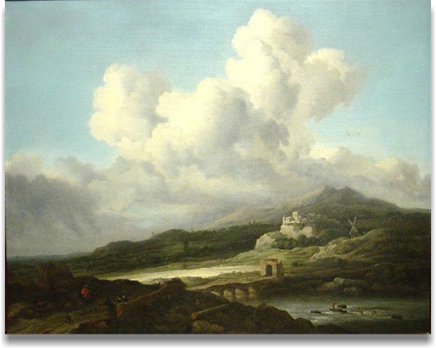"""Ray of Sunlight"", follower of Jacob van Ruisdael, Dutch, 1628 - 1682, oil on canvas."