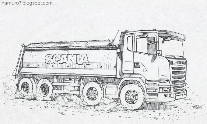 Draw Scania Euro 6 Dump Truck Wood Art With Images Dump