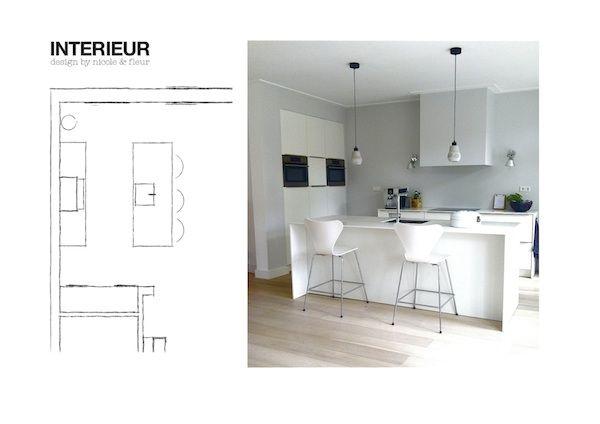 Keukeneiland met bar | Blog Interieur design by nicole & fleur