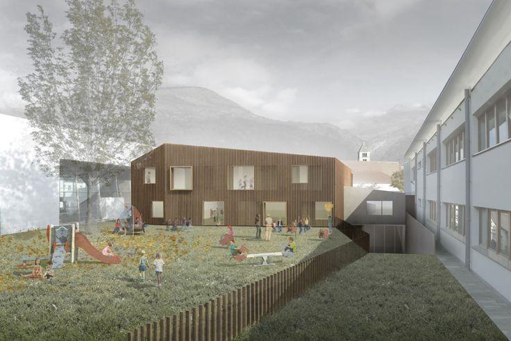 Scuola materna e locale di prove musica a Sluderno