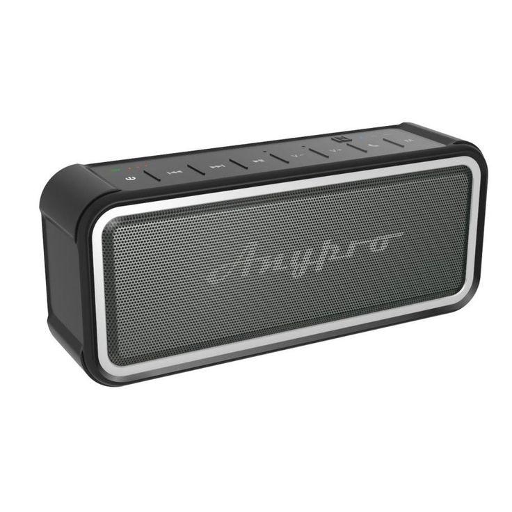 Anypro ポータブル Bluetooth スピーカー IP67防塵&防水認証 【全音域が自然のバランスで長時間持続再生】 低音強化 内蔵高質マイク搭載 NFC、Siri対応 デュアルドライバー臨場感 HFD-895 おすすめ度*1 ASIN B01IEKTTDG 比較的コンパクトなサイズのワイヤレススピーカー。ラバー加工されて防水性も高いので持ち運びにも向く。 aptXには対応しない。通信性能は安定しており、遅延もないので動画鑑賞も問題ない。 【1】外観・インターフェース・付属品 付属品は日本語含む多言語マニュアルとAUXケーブル、USB充電ケーブル。 操作パネルインターフェースは本体上面…