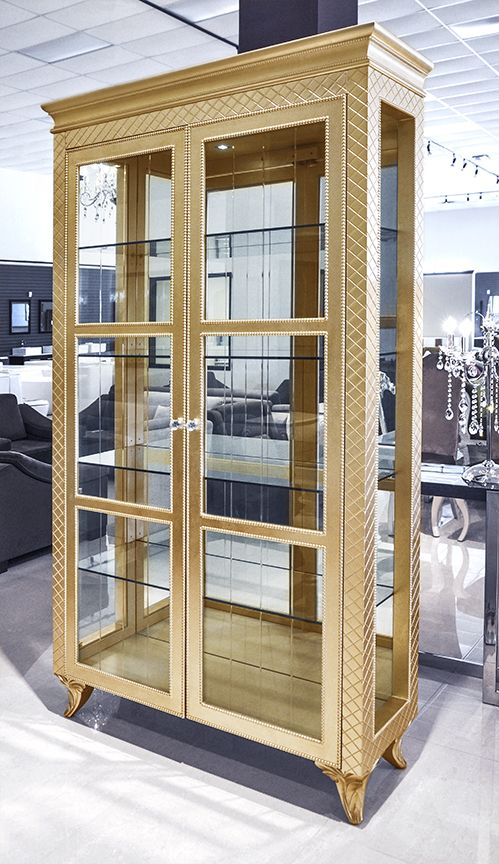modern china cabinet geneve gold