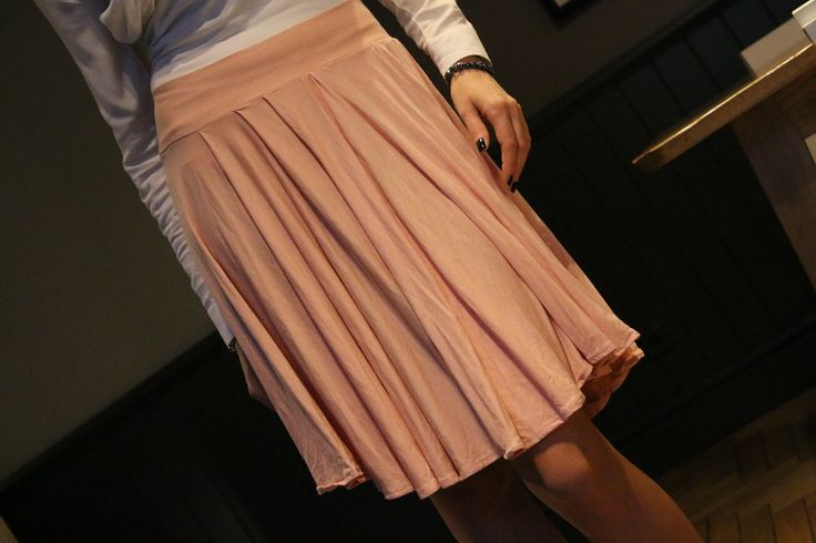 romantic pastel skirt