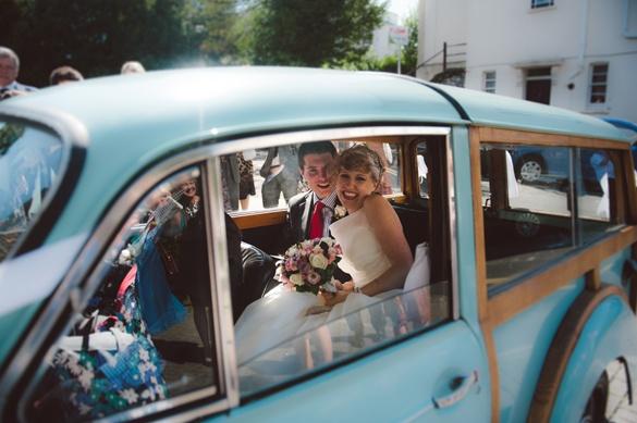 Morris Minor Wedding Car!