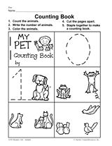 My Pet Counting Book Printable (Pre-K - 1st Grade)
