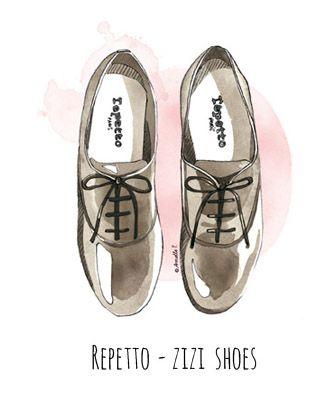 Repetto Zizi shoes - illustration by Armelle Tissier