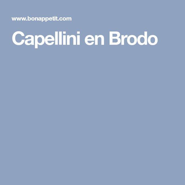 Capellini en Brodo