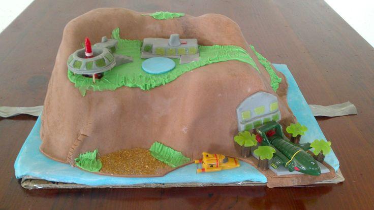 Tracy Island birthday cake for Thunderbirds fanatics