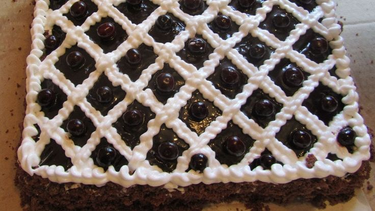 Торты рецепты. Торт ПЬЯНАЯ ВИШНЯ в шоколаде. Рецепты тортов Выпечка на k...