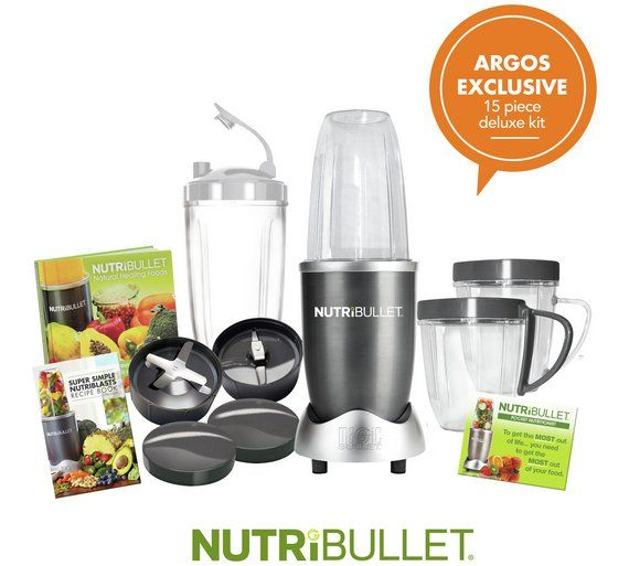 Buy Nutribullet Deluxe 600 Series at Argos.co.uk, visit Argos.co.uk to shop online for Blenders and smoothie makers, Food and drink preparation, Kitchen electricals, Home and garden