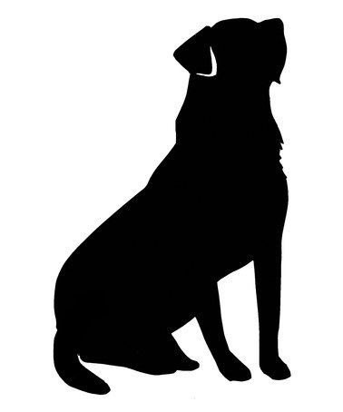 steadfast friends black sitting labrador retriever temporary tattoo set of 10 friends. Black Bedroom Furniture Sets. Home Design Ideas
