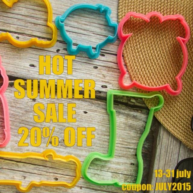 Only until the end of July you can get an unprecedented discount of 20% on all collections of cookie cutters from the experts of lubimova.com